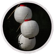Lanterns Round Beach Towel