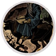 Laozi, Ancient Chinese Philosopher Round Beach Towel