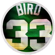 Larry Bird Round Beach Towel by Marvin Blaine