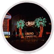 Las Vegas 1983 #2 Round Beach Towel