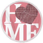 Las Vegas Street Map Home Heart - Las Vegas Nevada Road Map In A Round Beach Towel