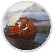 Last Of The Mohicans, 1919 Round Beach Towel