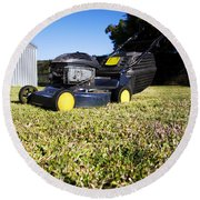 Lawn Mower Round Beach Towel