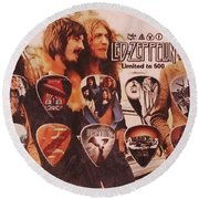 Led Zeppelin Art Round Beach Towel