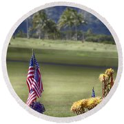 Lest We Forget V2 Round Beach Towel