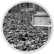 Letchworth Village Cemetery Round Beach Towel