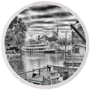 Liberty Square Riverboat Round Beach Towel by Howard Salmon