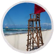 Lifeguard Round Beach Towel