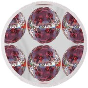 Light Globes Interior Decorations Entertainment Hotels Resorts Casino Bar Las Vegas America Usa Round Beach Towel