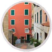 Liguria - Sori Round Beach Towel