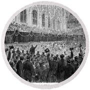 Lincoln Assassination, 1865 Round Beach Towel