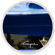 Lincoln Capri Emblem Round Beach Towel