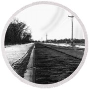 Lincoln Highway Round Beach Towel