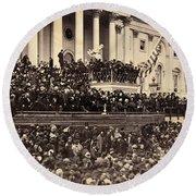 Lincoln's Inauguration, 1865 Round Beach Towel