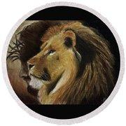 Lion Of Judah Round Beach Towel