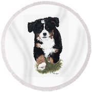 Little Ms. Muffet Round Beach Towel