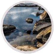 Llynnau Mymbyr Round Beach Towel