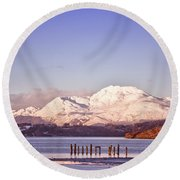 Loch Lomond 02 Round Beach Towel