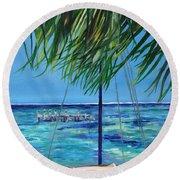 Lokal Flava Caye Caulker Belize Round Beach Towel