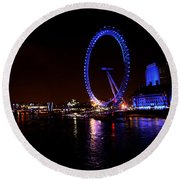 River Thames - London Round Beach Towel