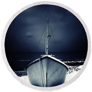 Loneliness Round Beach Towel by Stelios Kleanthous