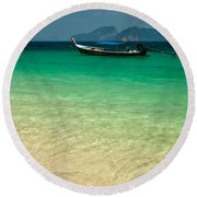 Longboat Asia Round Beach Towel
