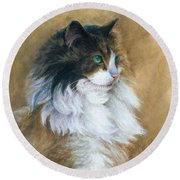 Longhaired Round Beach Towel