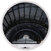 Looking Up The Lighthouse Round Beach Towel