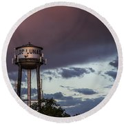 Los Lunas Water Tower Round Beach Towel