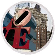 Love In The Park Round Beach Towel