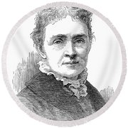 Lucretia Garfield (1832-1918) Round Beach Towel
