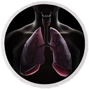 Lung Anatomy Round Beach Towel