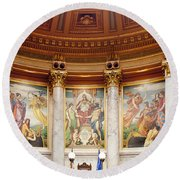 Murals In The Capitol - Madison Round Beach Towel