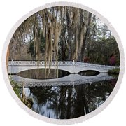 Magnolia Plantation Round Beach Towel