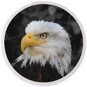 Majestic Eagle Round Beach Towel