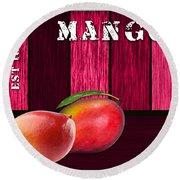 Mango Farm Sign Round Beach Towel