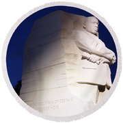 Martin Luther King Memorial Round Beach Towel