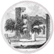 Massachusetts Salem, 1851 Round Beach Towel