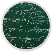 Mathematics Round Beach Towel