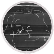 Max Woman In Negative Round Beach Towel