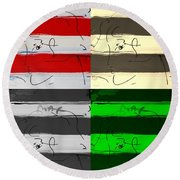 Max Woman In Quad Colors Round Beach Towel