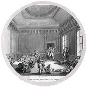 Maximilien Robespierre (1758-1794) Round Beach Towel