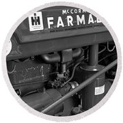 Mc Cormick Farmall Super C Round Beach Towel