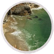 Mcway Falls Round Beach Towel by Adam Jewell