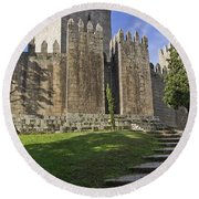 Medieval Castle Keep Round Beach Towel