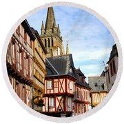 Medieval Vannes France Round Beach Towel