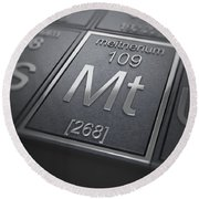 Meitnerium Chemical Element Round Beach Towel