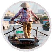 Mekong Delta - Vietnam Round Beach Towel
