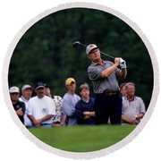 12w334 Jack Nicklaus At The Memorial Tournament Photo Round Beach Towel