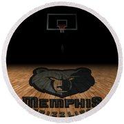 Memphis Grizzlies Round Beach Towel